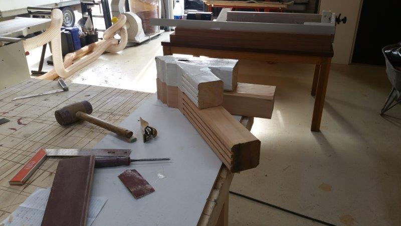 construeren van de nieuwe draagconstructie